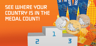 See where your country is in the medal count!