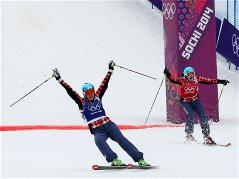 Canadian freestylers claimed gold and silver in ladies' ski cross