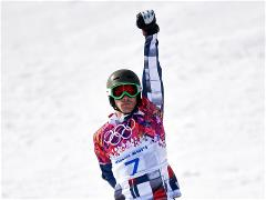Family triumph in the parallel giant slalom