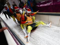 German team won gold in luge relay