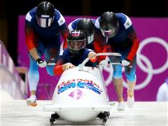 Russian four-man bobsleigh team leads after two runs