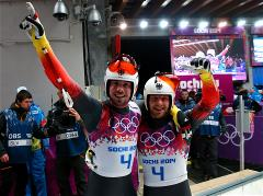Germany earn third luge gold in doubles