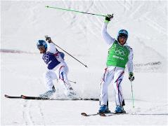 French athletes sweep the medals in the Olympic ski cross