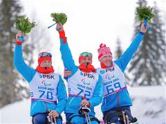 Russian biathletes strike gold