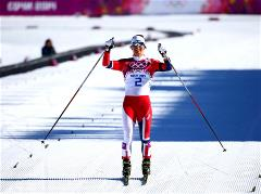Representatives of Norway took two places on the podium in skiathlon