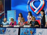Russian Olympic Team Fans House host ceremonial cancellation of postage stamps in honor of the Sochi Olympics