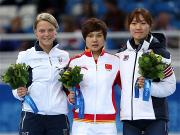 The Olympic gold in 500m ladies' short track goes to China