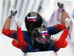 Russian four-man bobsleigh team won gold medals of the Sochi Olympic Games in the last day of competitions.