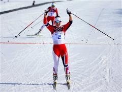 Norwegians sweep the podium in cross-country ski mass start