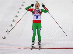 Darya Domracheva wins third gold medal in the Sochi