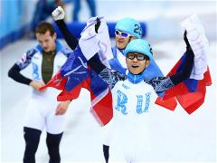 Ahn leads Russia to 5,000m short track relay gold