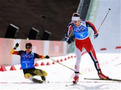 Norwegian athletes took gold in the Nordic combined team competitions