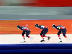 Sochi 2014 Day 16 - Speed Skating Men's Team Pursuit Finals
