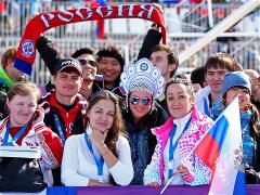 Fans Enjoy The Atmosphere At Sochi 2014