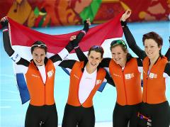 Sochi 2014 Day 16 - Speed ​​Skating Ladies' Team Pursuit