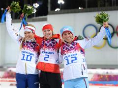 Sochi 2014 Day 11 - Biathlon Women's 12.5 km Mass Start