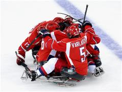 Sochi 2014 Paralympic Games - Ice Sledge Hockey Preliminary Rounds Day 3