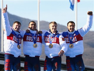 Sochi 2014 Day 17 - Bobsleigh Four-man Heat