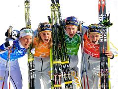 Sochi 2014 Day 9 - Cross Country Ladies' Relay 4x5 km